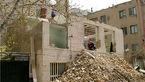 تخریب ساختمان قدیمی در خیابان قصر الدشت