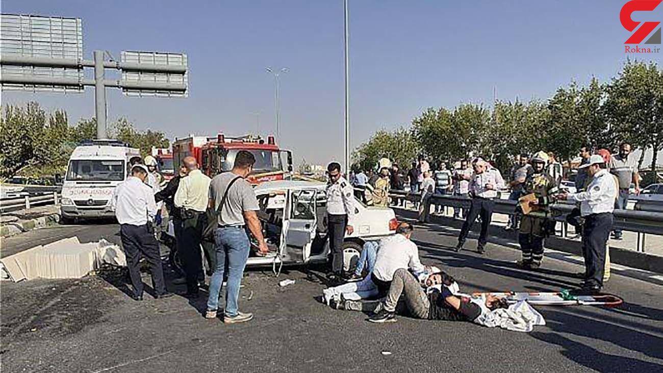تنها معجزه مرگ 8 تن در تصادف وحشتناک مشکین شهر / دختر 10 ساله زنده ماند + عکس