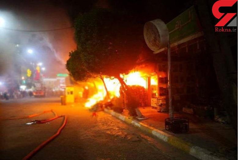 اولین تصاویر از حادثه آتش سوزی مرگبار در نزدیکی حرم امام حسین(ع)