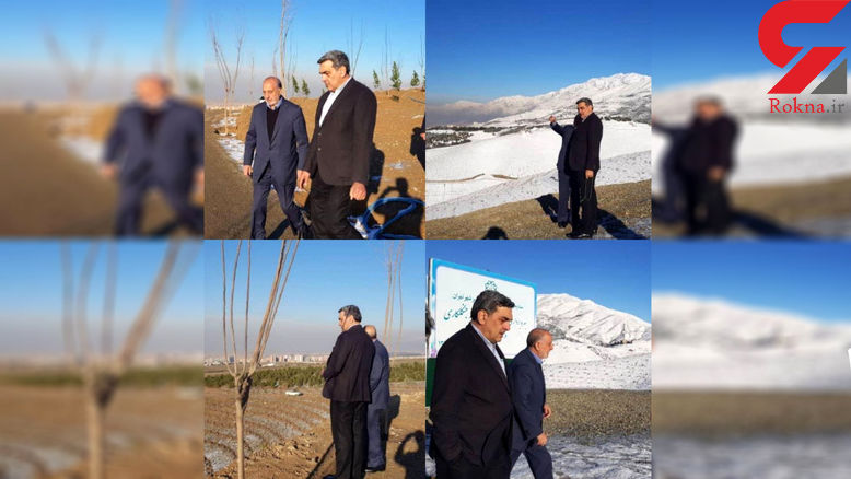 بازدید صبحگاهی حناچی از پروژه کمربند سبز تهران در تلوپ