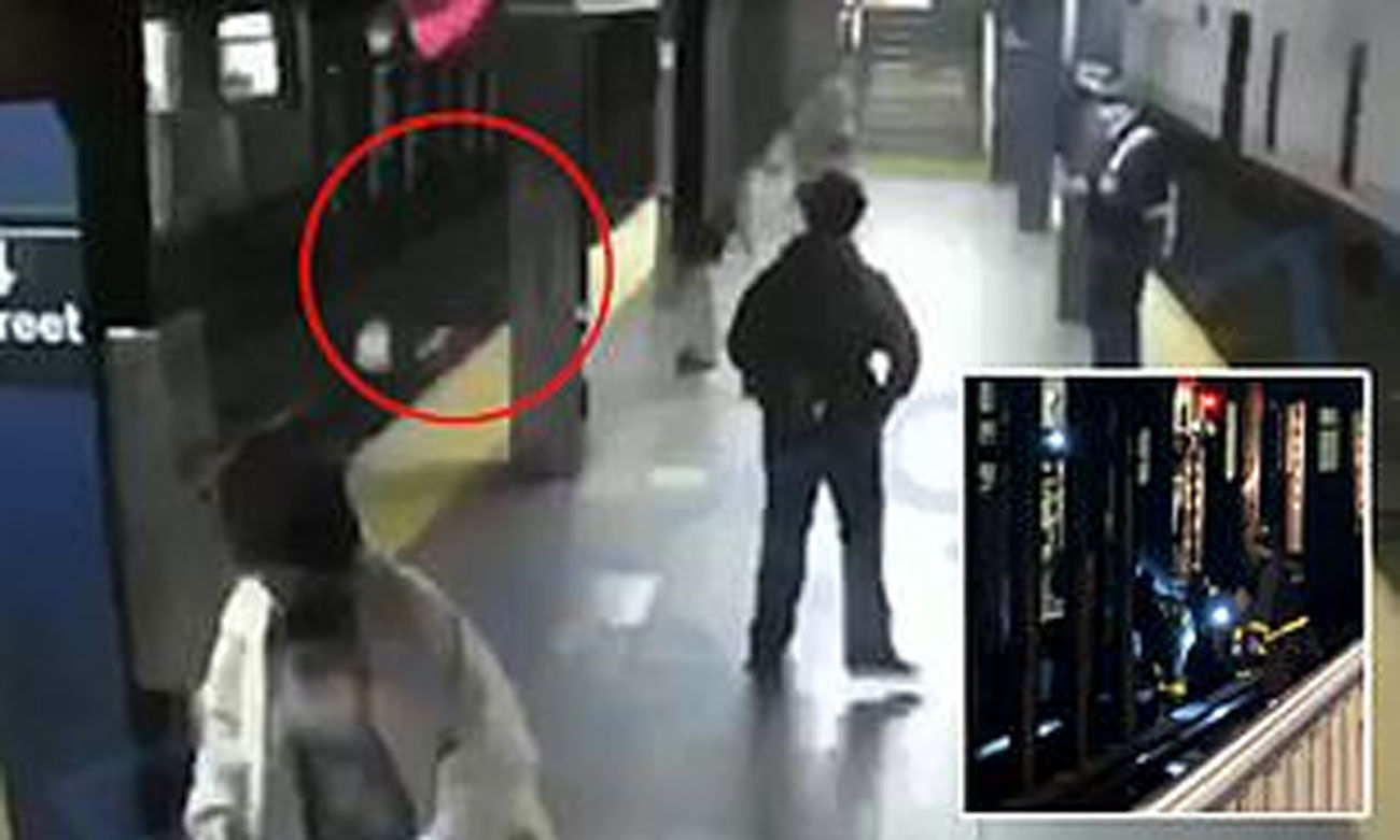 Indian-origin homeless man arrested for pushing woman onto subway tracks in front of incoming train