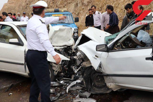 تصادف سه خودرو در خراسان رضوی