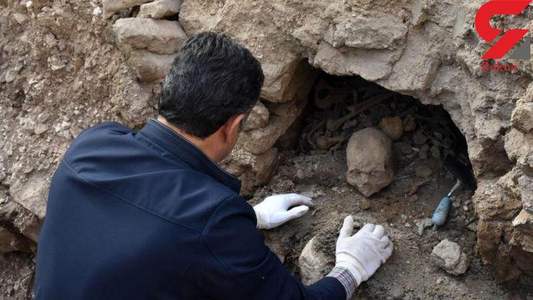 قدمت 200 ساله گورستان کشف شده در بافق