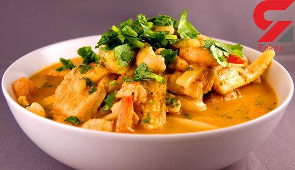 خورشت مرغ کاری یک غذای هندی + دستور پخت
