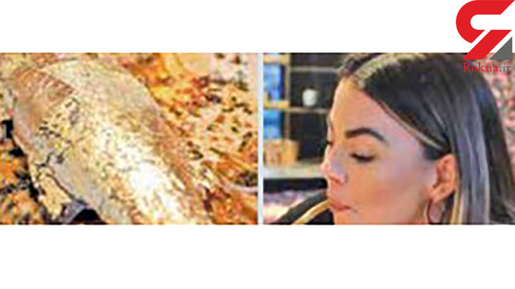غذای ماهی با روکش طلا در رستوران لاکچری +عکس