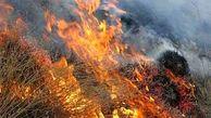 ارتفاعات سیمکان جهرم همچنان در آتش می سوزد