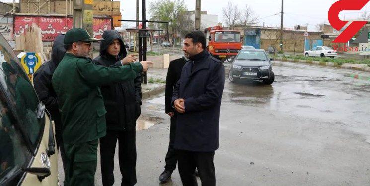 نجات ۵ گرفتار در سیلاب خوسف/خراسان جنوبی در آماده باش