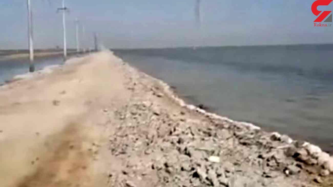 سرقت دیوار بتنی 10 کیلومتری در منطقه آزاد اروند + فیلم