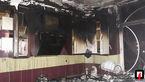 آتش سوزی درآشپزخانه یک واحد مسکونی + عکس