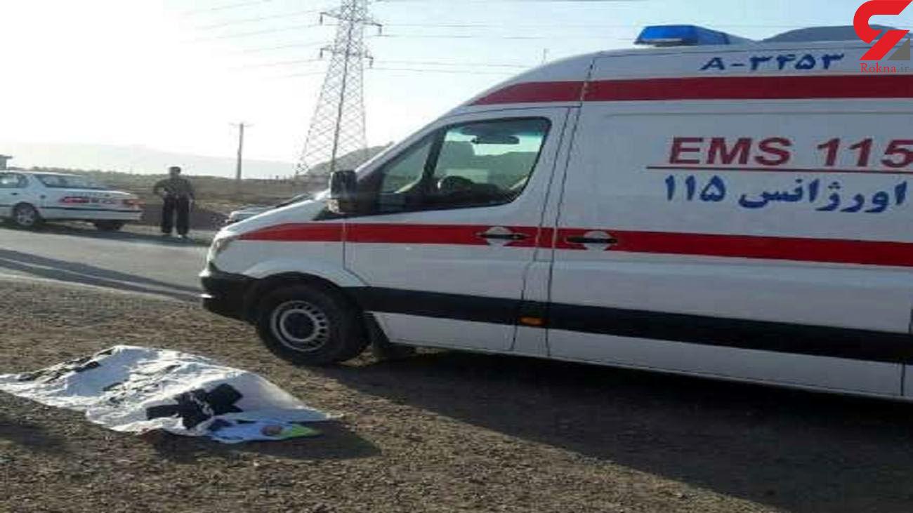 یک کشته در برخورد وانت پیکان با گاردریل در زنجان