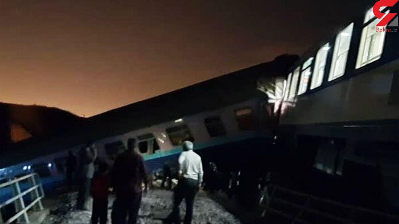 آخرین وضعیت حادثه خروج قطار همدان به مشهد + عکس