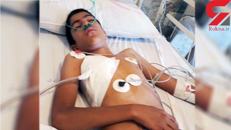 این پسر 13 ساله از دست عزرائیل گریخت / او سلاخی شده بود! + فیلم و عکس
