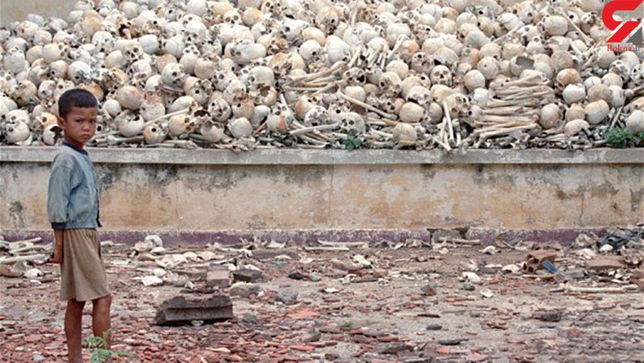 گردن زدن یک سوم مردم یک کشور  با تبر / حیله رهبر سنگدل کامبوج چه بود؟! + تصاویر