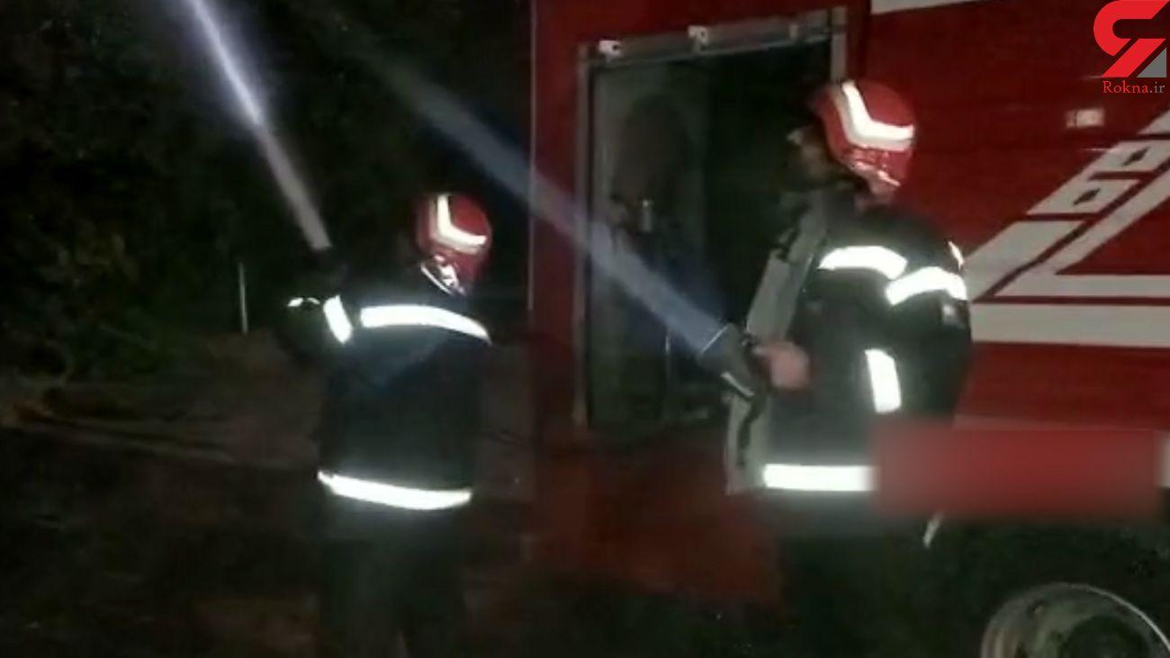 فیلم آتش سوزی در شهربازی بجنورد