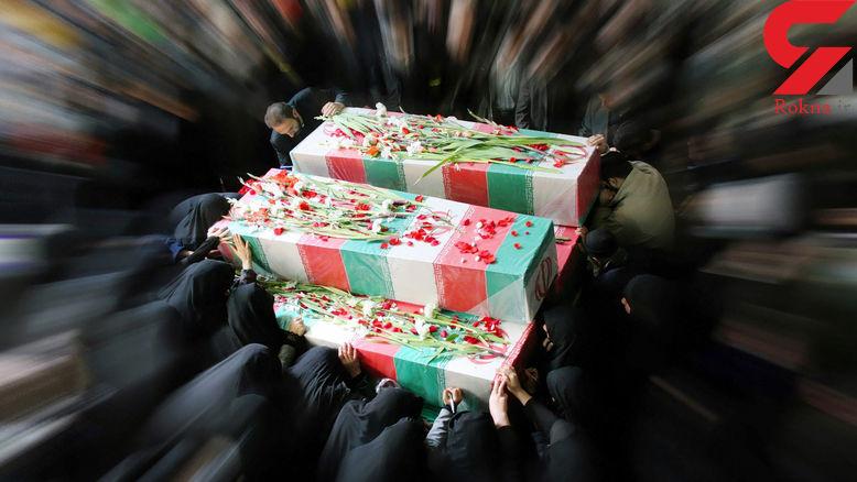 تشییع و خاکسپاری پیکرهای ۲۲۴شهید دفاعمقدس در ۳۱ استان