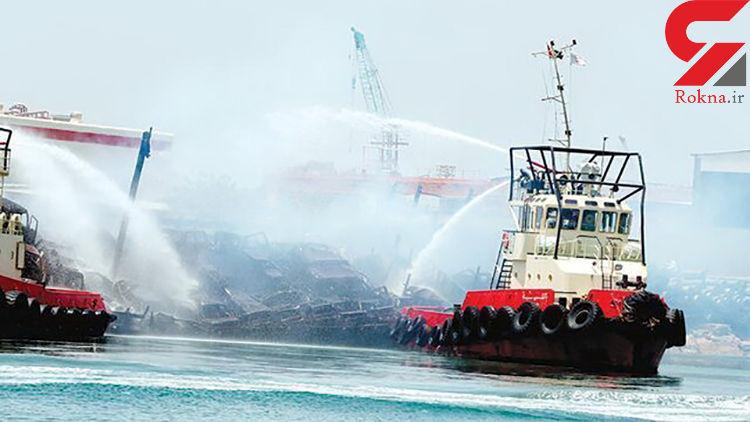 آتشسوزی کشتی حامل خودور در شارجه