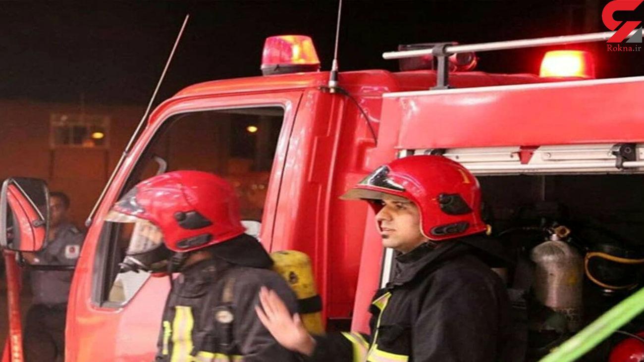 آتش سوزی در تصادف شدید 2 تریلی / در کرمان رخ داد