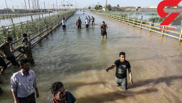 آخرین وضعیت از سیل ویرانگر خوزستان / سیلاب منزل به منزل میآید+ تصاویر