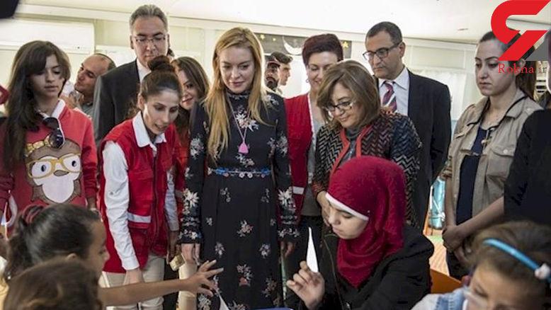 تیپ جالب بازیگر زن مشهور در سوریه! + تصاویر