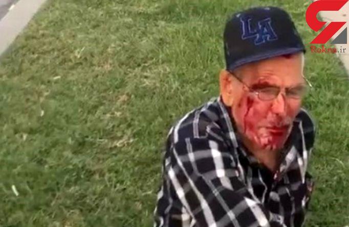 زن وحشی پیرمرد را هنگام خواندن کتاب مقدس کتک زد+ تصاویر