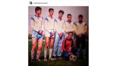 وقتی هاشم خان در تیم فوتبال بود +عکس