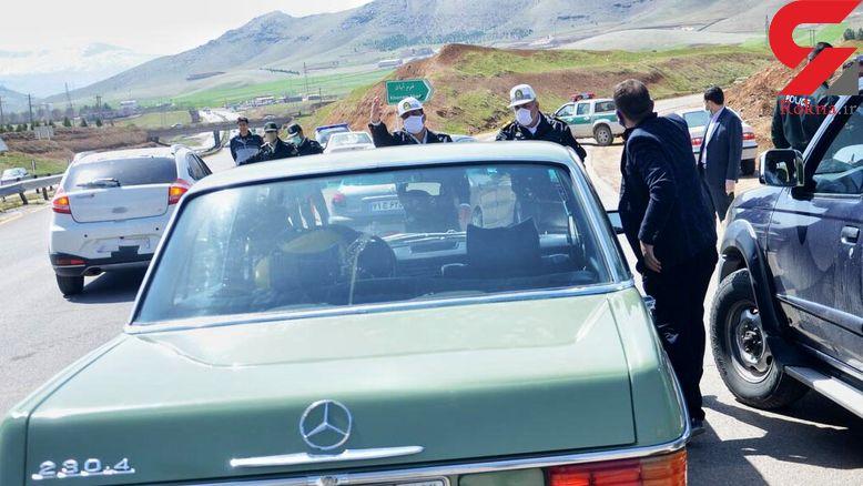 جلوگیری از تردد خودروهای غیربومی در الیگودرز
