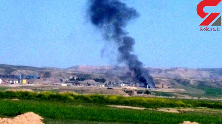 آتش سوزی مخزن قیر در کارخانه آسفالت