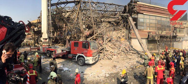 انفجار تانکر گازوئیل مستقر در محل فاجعه پلاسکو