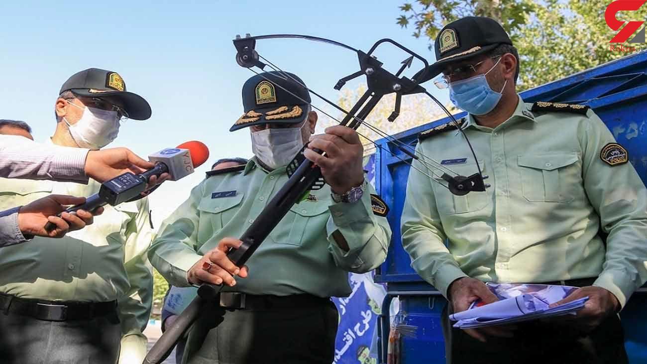 ترساندن تهرانی ها با این سلاح های عجیب و غریب / پلیس فاش کرد+ تصاویر