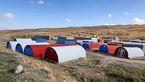 کانکسهای رنگی یادگار زلزله ارسباران+عکس