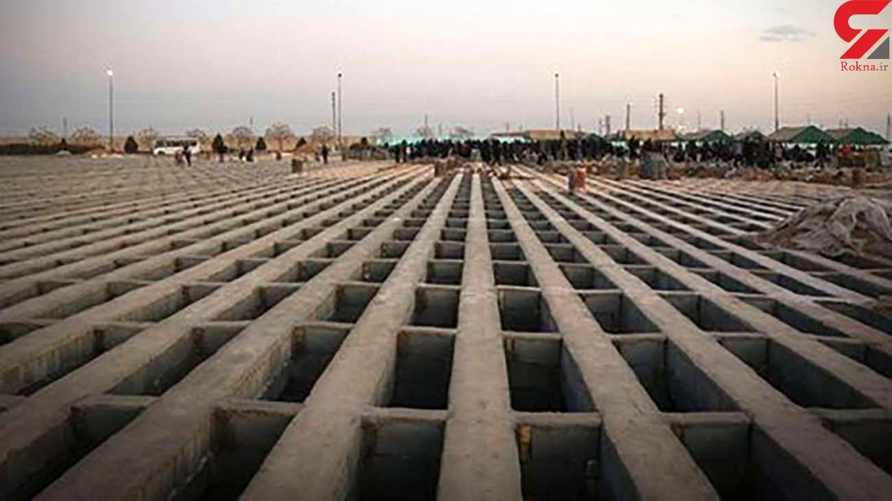 پسلرزههای بحران کرونا در بهشت زهرا: دفن روزانه ۱۰۰ متوفی کرونایی