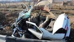 واژگونی خودرو سمند در جاده «خاوران»