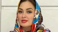 آرایش غلیظ و عروسکی الهام حمیدی پس از ازدواج + عکس