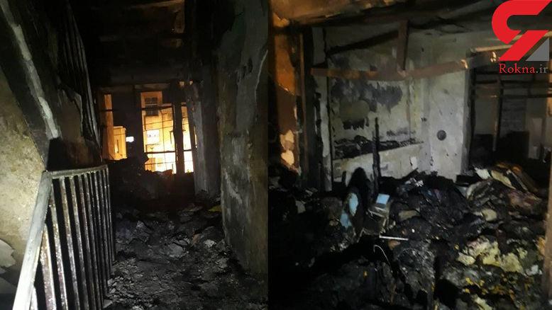 خانه مسکونی در لار آتش گرفت