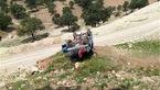 مرگ 2 سرنشین بر اثر سقوط و آتشسوزی خودرو در تالش