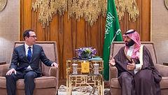 وزیر خزانهداری آمریکا بر خلاف عادتش، تصاویر دیدارش با بن سلمان را منتشر نکرد