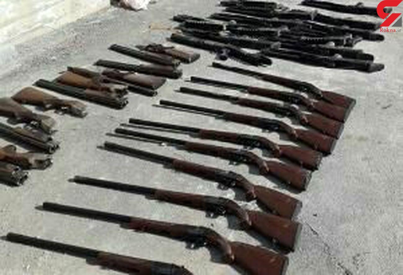 ۱۲ نفر در لرستان دستگیر شد/ کشف ۲۲ قبضه سلاح جنگی و شکاری
