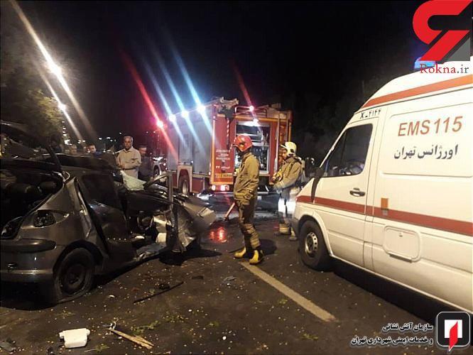 برخورد شدید خودرو با درخت یک مصدوم داشت