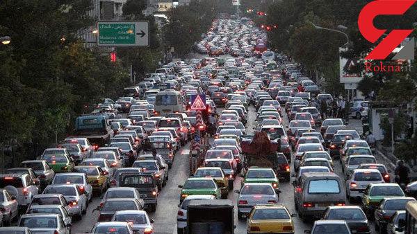 وضعیت ترافیکی معابر تهران در اولین روز هفته اعلام شد