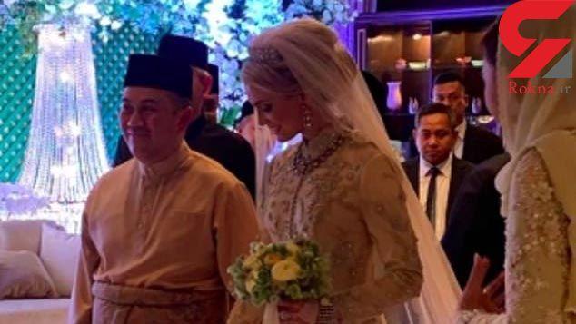 ازدواج ولیعهد مالزی با ملکه زیبایی سوئد + عکس