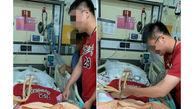 ازدواج پسر عاشق با دختر تصادفی روی تخت بیمارستان / عروس تایلندی بیهوش بود + عکس