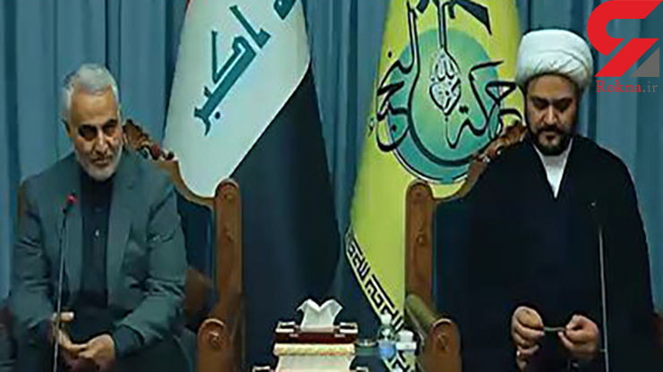 فیلمی دیده نشده از صحبتهای سردار سلیمانی به زبان عربی