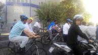 افتتاح مرکز درمانی شهرداری تهران با دوچرخه + عکس