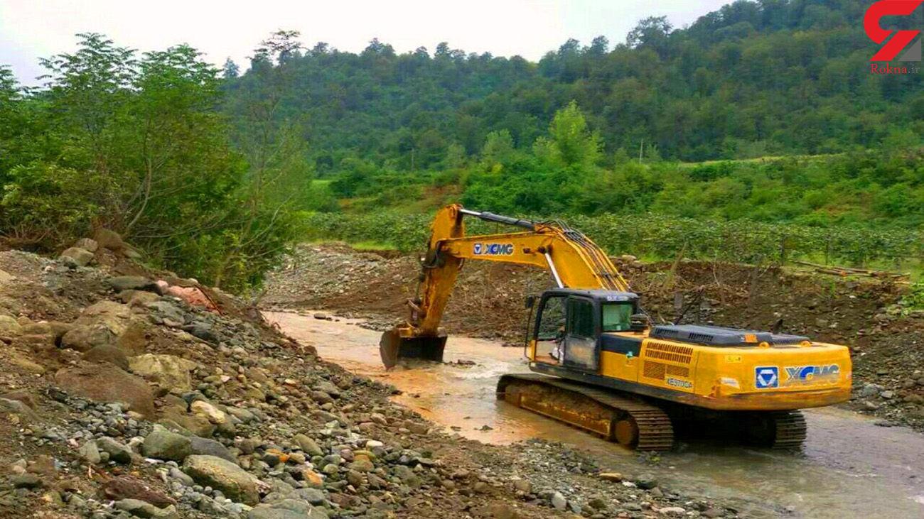 دستگیری عاملان برداشت شن و ماسه از بستر رودخانه در گیلان