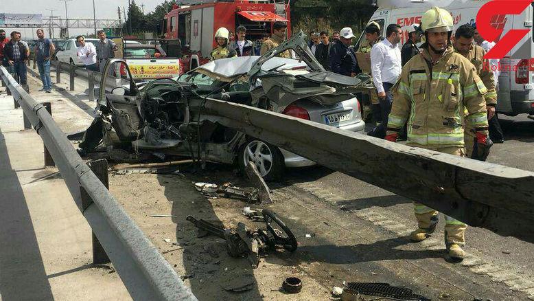 تصادف مرگبار 206 در تهران منجر به کشته شدن راننده شد
