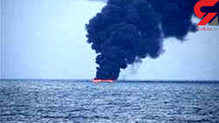 آتش سوزی یک فروند کشتی حوالی بندردیر