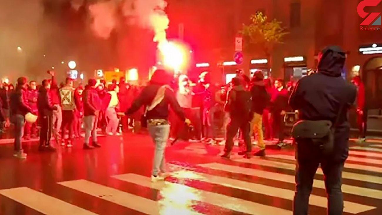 اعتراض مردم ایتالیا به محدودیت های کرونایی