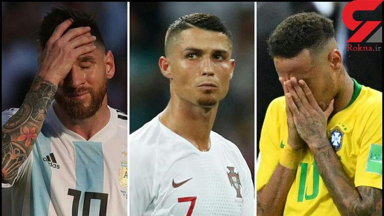 تصویری از 3 فوق ستاره در جام جهانی 2018 که اشک ریختند