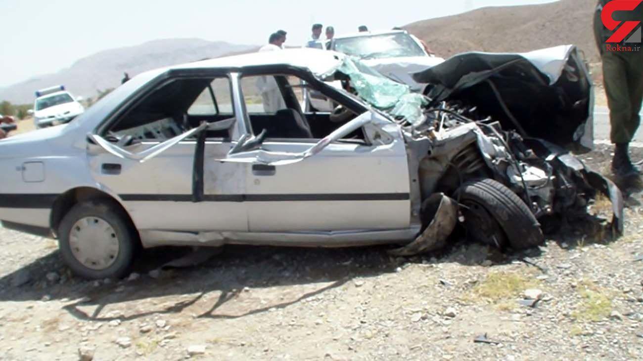 تصادف خونین پژو با نیسان در کرمان