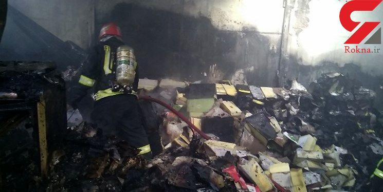 جزئیات جدید از آتش سوزی انبار کفش در بازار تبریز+ عکس